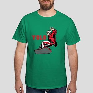 Yolo Snowboarding Dark T-Shirt