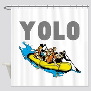 Yolo River Rafting Shower Curtain