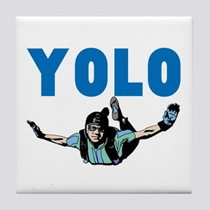 Yolo Skydiving Tile Coaster