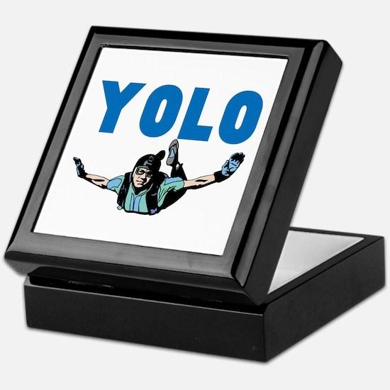 Yolo Skydiving Keepsake Box