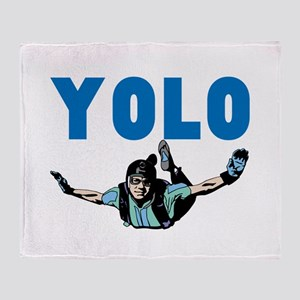 Yolo Skydiving Throw Blanket