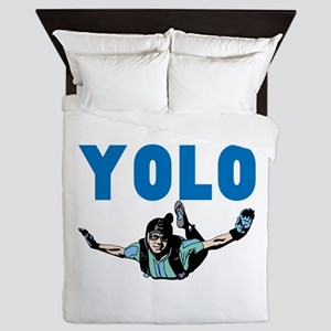 Yolo Skydiving Queen Duvet