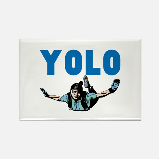 Yolo Skydiving Rectangle Magnet