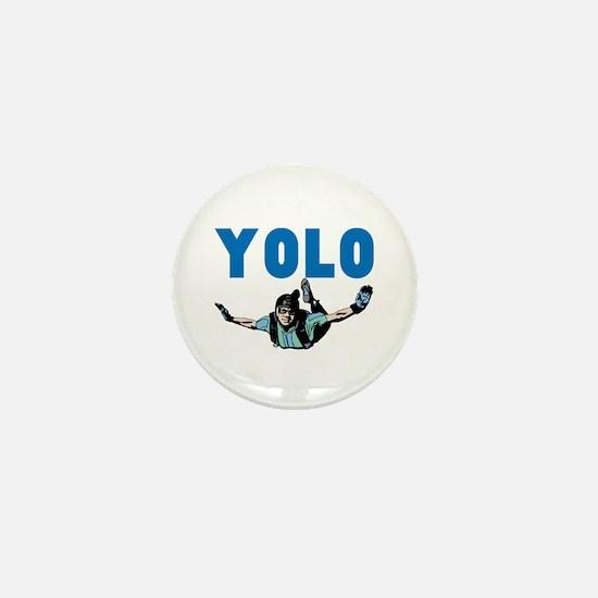 Yolo Skydiving Mini Button
