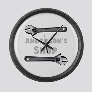 Personalized Shop Large Wall Clock