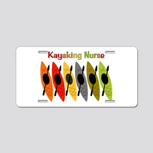 Kayaking Nurse Aluminum License Plate