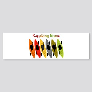 Kayaking Nurse Sticker (Bumper)