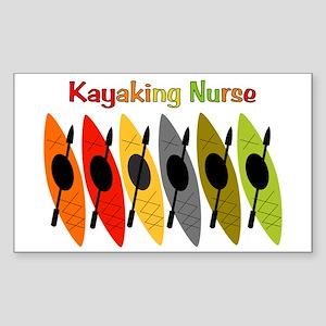 Kayaking Nurse Sticker (Rectangle)