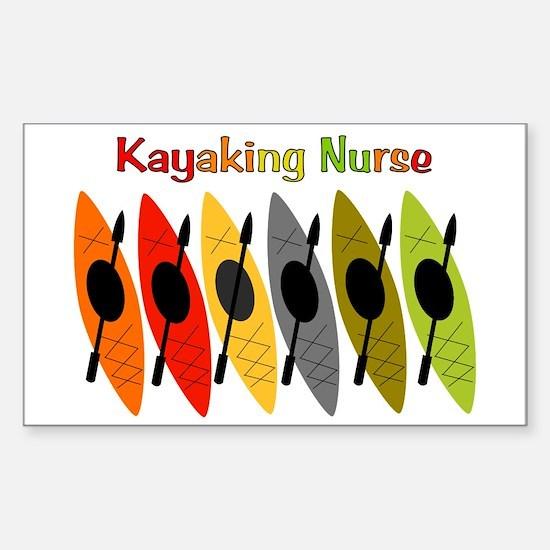 Kayaking Nurse.PNG Sticker (Rectangle)