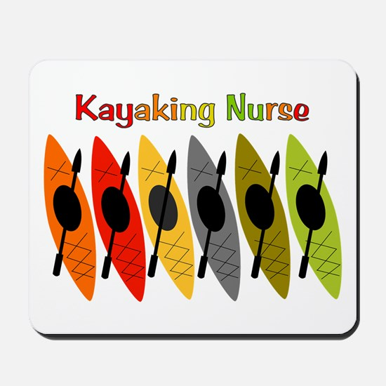 Kayaking Nurse.PNG Mousepad