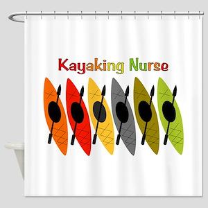 Kayaking Nurse Shower Curtain