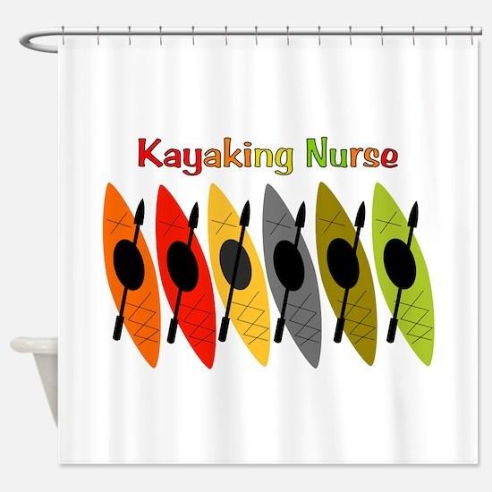 Kayaking Nurse.PNG Shower Curtain