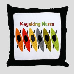 Kayaking Nurse Throw Pillow