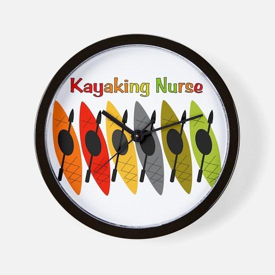 Kayaking Nurse.PNG Wall Clock