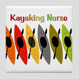 Kayaking Nurse Tile Coaster