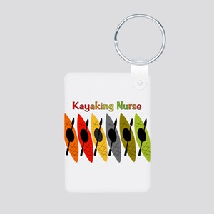 Kayaking Nurse Aluminum Photo Keychain