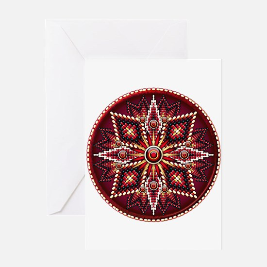 Native American Rosette 14 Greeting Card