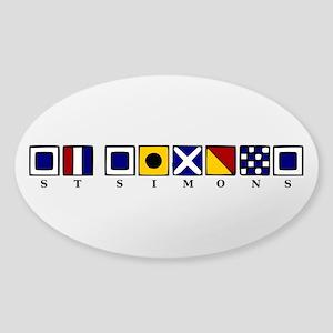 St. Simons Sticker (Oval)