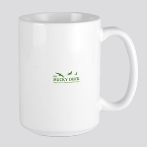 Mucky Duck Logo_ Green Large Mug