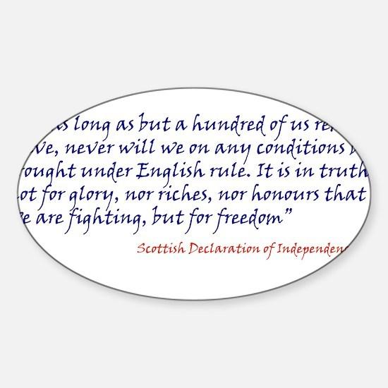 Scottish Independance Sticker (Oval)