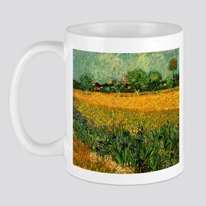 Van Gogh View of Arles with Irises Mug