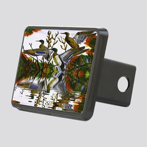 Duck Flight Reflection Rectangular Hitch Cover