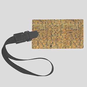 Papyrus Hieroglyphic Large Luggage Tag