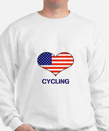 LOVE CYCLING STARS AND STRIPES Sweatshirt