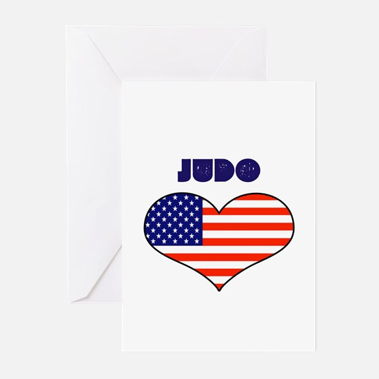 LOVE JUDO STARS AND STRIPES Greeting Cards (Pk of