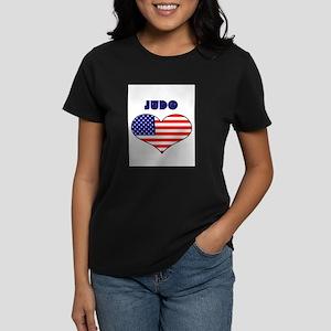 LOVE JUDO STARS AND STRIPES Women's Dark T-Shirt