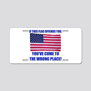 Flag1a Aluminum License Plate