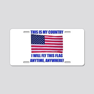Flag2a Aluminum License Plate
