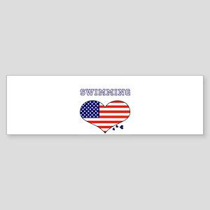 I LOVE SWIMMING THE STARS AND STRIPES Sticker (Bum