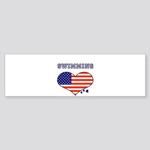 I LOVE SWIMMING THE STARS AND STRIPES Sticker (Bum