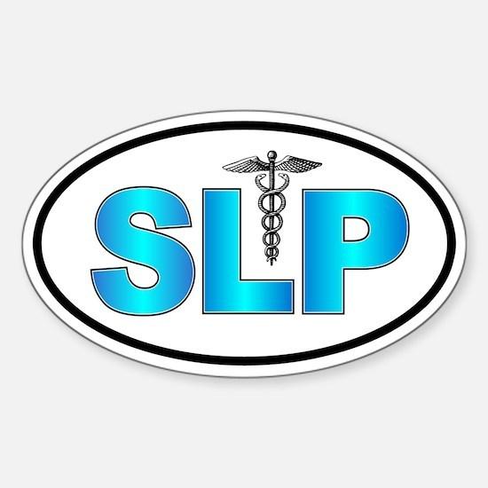 SLP Blue Oval Decal