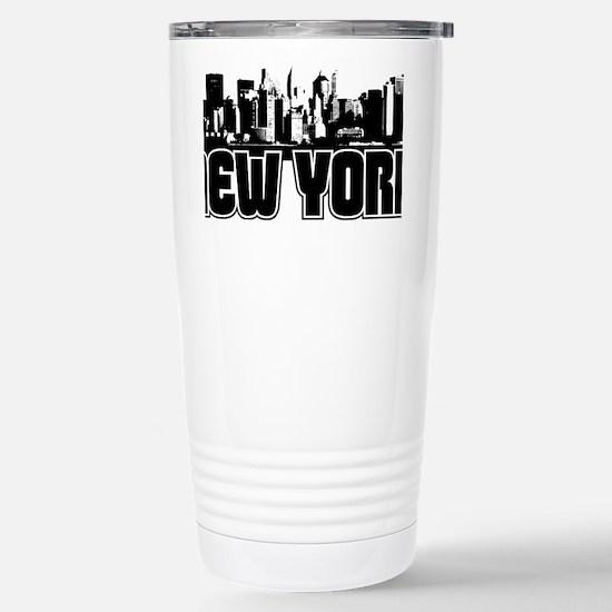 New York Skyline Stainless Steel Travel Mug