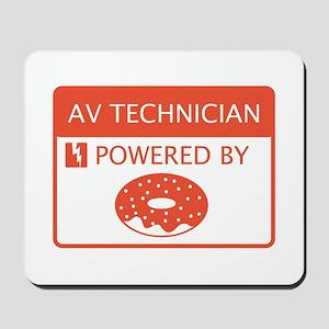 AV Technician Powered by Doughnuts Mousepad