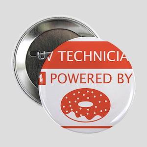 """AV Technician Powered by Doughnuts 2.25"""" Button"""