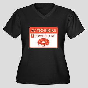 AV Technician Powered by Doughnuts Women's Plus Si