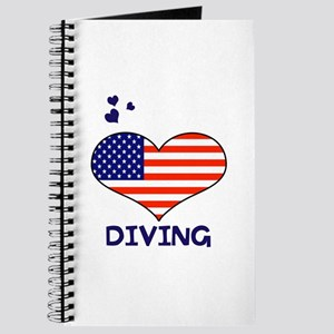 LOVE DIVING STARS AND STRIPES Journal