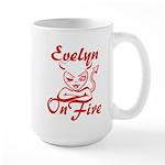 Evelyn On Fire Large Mug