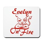 Evelyn On Fire Mousepad