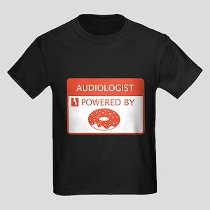 Audiologist Powered by Doughnuts Kids Dark T-Shirt