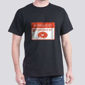 Audiologist Powered by Doughnuts Dark T-Shirt
