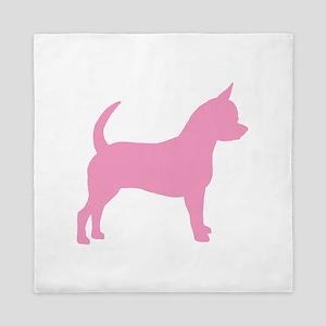 chihuahua dog pink Queen Duvet