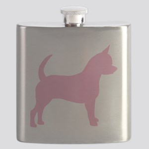 chihuahua dog pink Flask