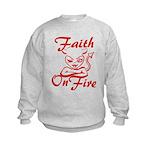 Faith On Fire Kids Sweatshirt