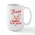 Faith On Fire Large Mug