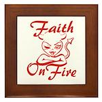 Faith On Fire Framed Tile