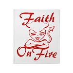 Faith On Fire Throw Blanket